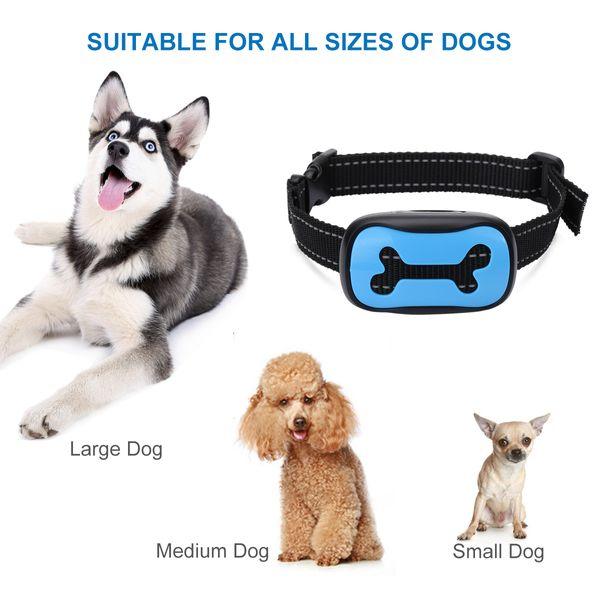 Cheap Training s No Bark Collar Cound Cibration 7 Bark Sensitivity Levels Dog Barking Control Collar Adjustable Nylon Collar Dog Trainings