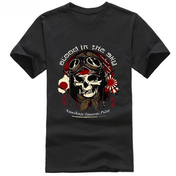 2018 New Arrival Kamikaze T Shirt S Xxxl Japan Pilot Ww2 War Zero Air Force Airborne Raf Samurai 100% Cotton Tee Shirts Online Shopping T Shirts Shop