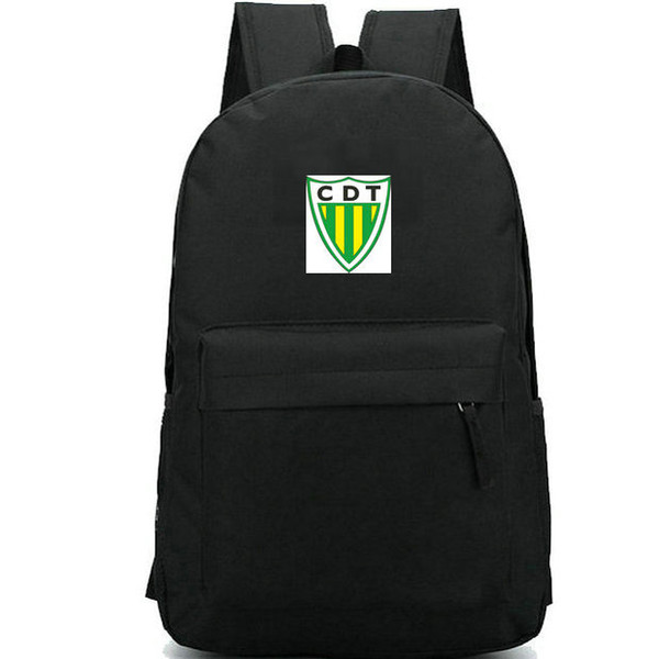 Tondela backpack CDT day pack Yellow stripe badge school bag Football club packsack Soccer rucksack Sport schoolbag Outdoor daypack