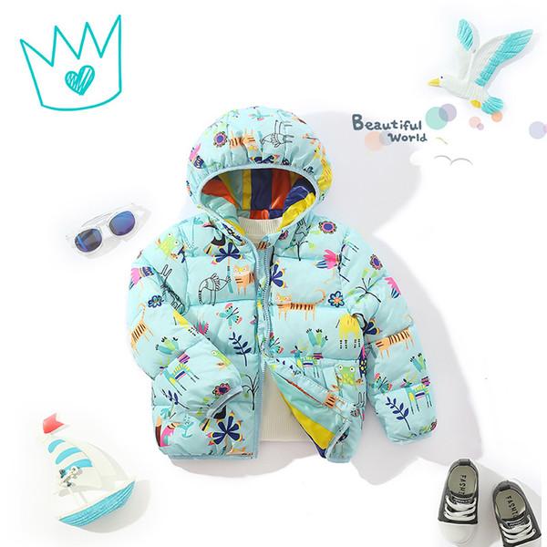9 Stil 2018 Kinder Oberbekleidung Jungen und Mädchen INS Winter warme Kapuzenmantel Kinder Baumwolle gefütterte Daunenjacke Kind Jacken 3-8 Jahre B