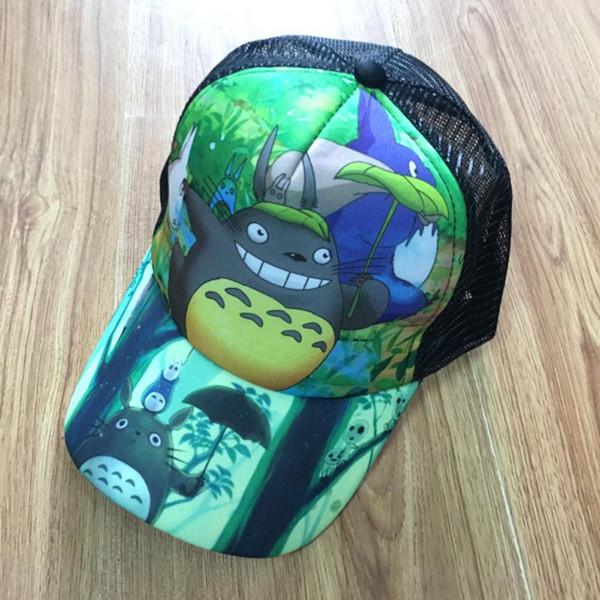 Sıcak Satış Anime Totoro Beyzbol Peaked Güneş Kap Snapback Örgü Şapka Erkek veya Kız için