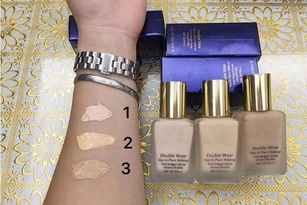 best selling 24pcs Makeup Double Wear Foundation Liquid 30ML liquid foundation 30ML high quality good price free shipping in stock