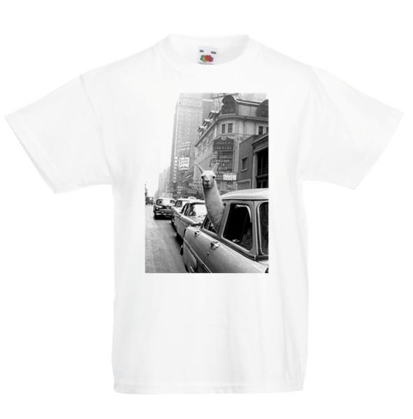 Лама автомобиль смешные детские футболки дети мальчики девочки унисекс топ веселый животных прохладный xxxtentacion Маркус и Мартинус футболка discout