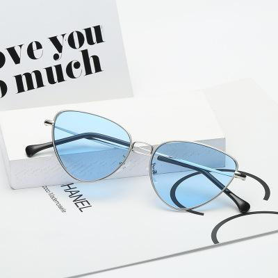 2019 new foreign trade cat eye ocean glass sunglasses, lady, retro European and American sunglasses.
