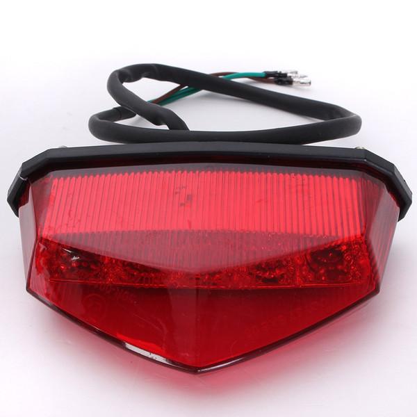 12V 3 Wiring Universal 10LEDs Red Motorcycle Dirt Bike Plate Lamp Rear Tail Brake Light