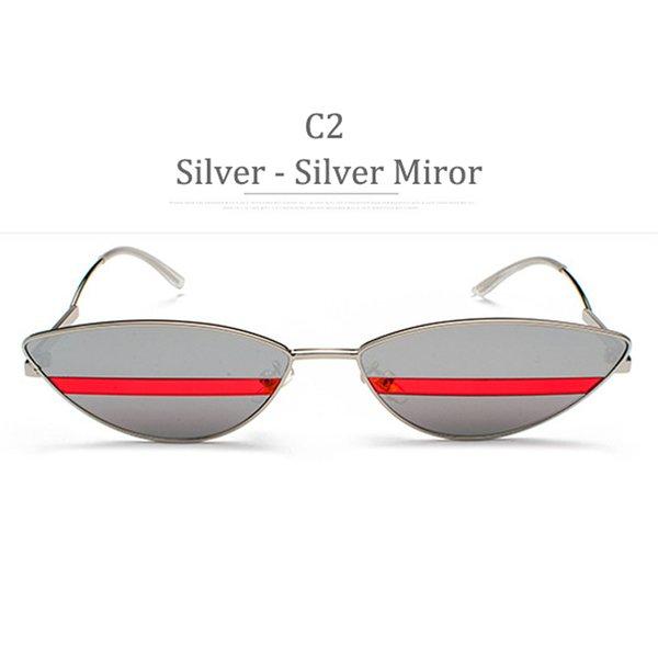 C2 Silver Frame Silver Miror