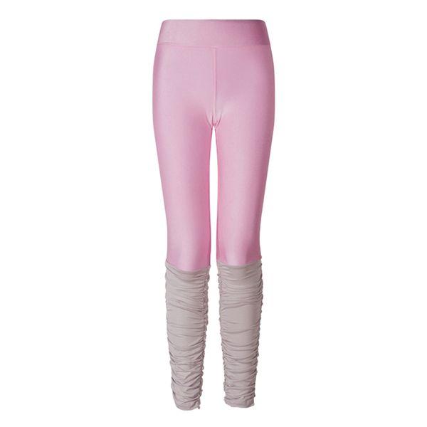 good quality Plus Size 3XL Pink Pants Black Gray Leggings Patchwork Fitness Skinny Pants Slim Women Leggings Push Up Sexy