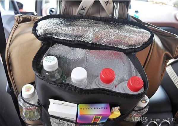 Multi poches sac de refroidisseur de voiture petit Oxford tissu organisateur voitures sièges suspendus sacs de rangement facile à transporter 7 84hg BB