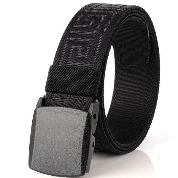 3.8 CM Delgado Hombres Y Mujeres Cinturón de Lona Moda POM Hebilla Automática Cinturón Para Mujeres Hombre Ventiladores Al Aire Libre Equipo Táctico