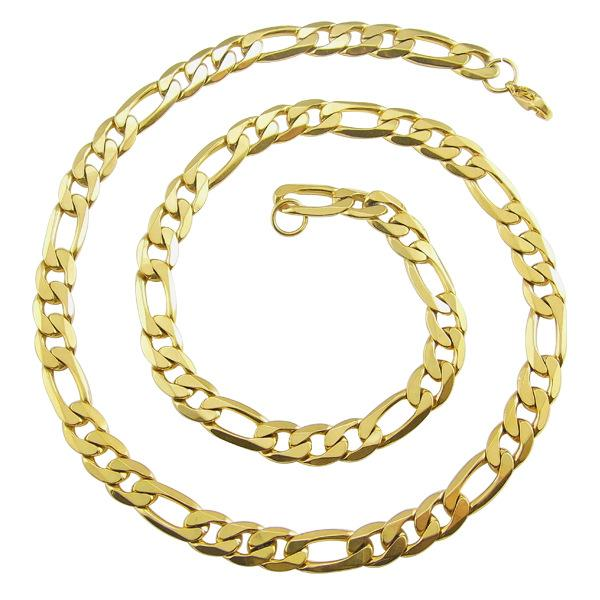 Fashion Male Link Chain Necklace Gold 316L Stainless Steel Braided Snake Cuban Chain Necklace Jewelry For Men Gift