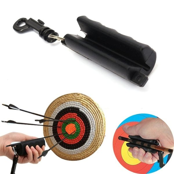Black Silicon Archery Arrow Puller for Target Hunting Bow Shooting Remover