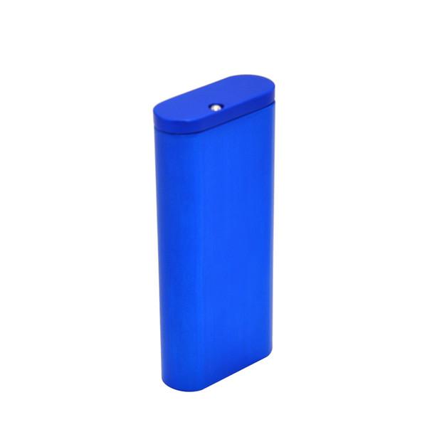 Premium Magnetic Aluminiumlegierung Tobacco Dugout Magnetverschluss mit Keramik Bat One Hitter Handmade Zigarettenetui Tabak