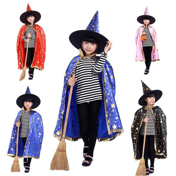 Halloween cloak costume props children's masquerade performance five-star cloth cloak WSJ-54