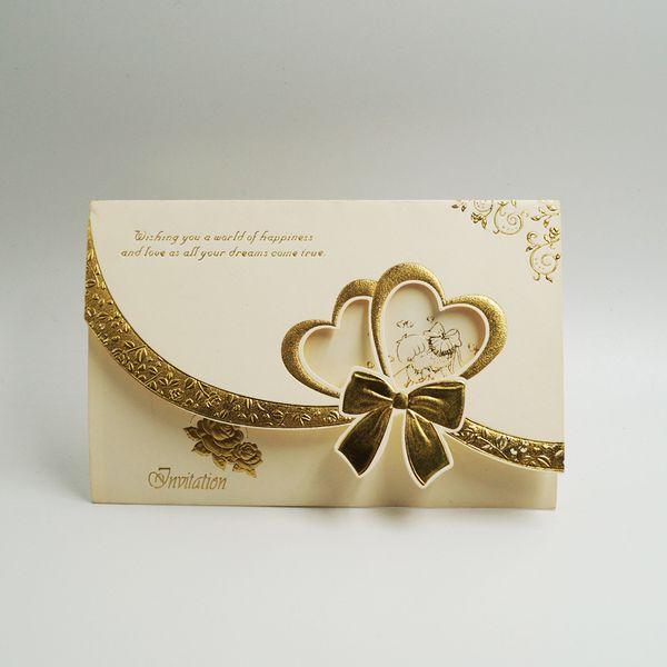 Invitations de mariage haut de gamme Hot Stamping Mode haut de gamme carton blanc mariage chinois invitations d'affaires occidentales