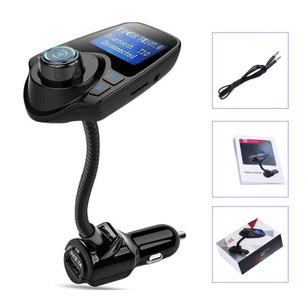 EinCar Bluetooth FM Transmitter Car MP3 Player Car Wireless Car Kit Radio Receiver with 5V/2.1A USB Charger Output Support USB Flash Driver & Micro SD Card Aux Output and Input Car Electronics & Accessories