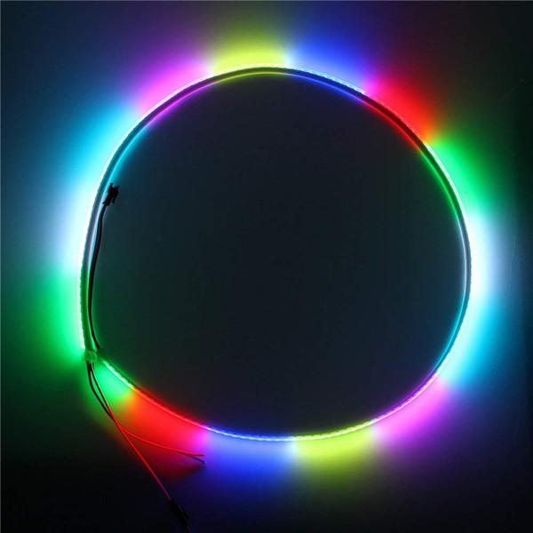 Luz flexível individualmente endereçável do pixel do diodo emissor de luz da tira 1m 144 do diodo emissor de luz de 3.2ft WS2812B luz 5050 RGB impermeável IP67 CCB branco do PCB 5V IP67