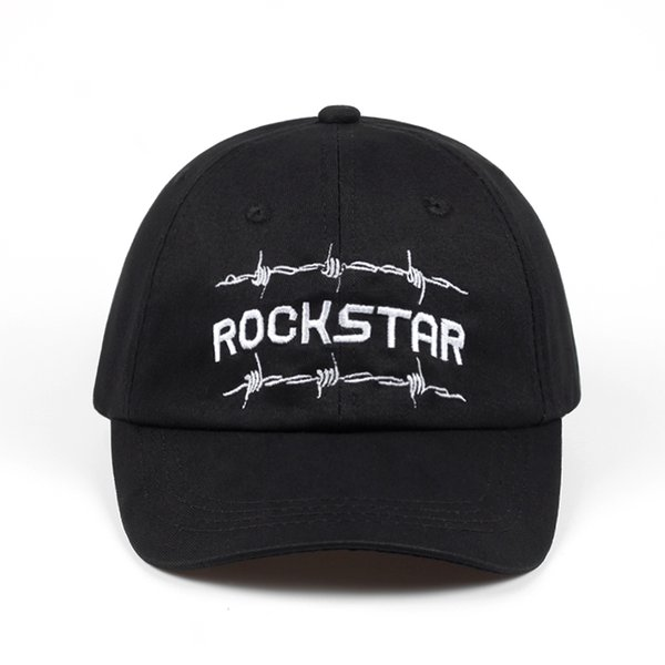 Nueva calidad 2018 New Rock Star Gorras de béisbol Sombreros de Hip Hop de primavera para mujeres Sombrero del bordado del bordado del casquillo del papá Sombrero del ajuste sombreros