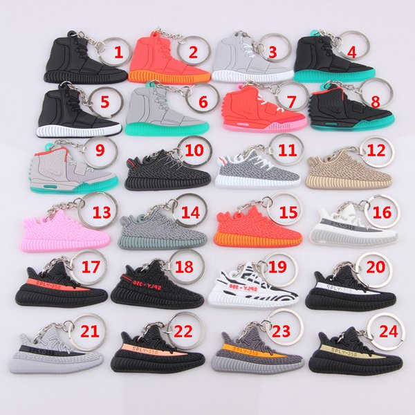 bc4b4f5658c36b Cute fashion 350 Boost V2 keychains Key Chains Sneaker sply-350 Keychain  Kids Key Ring Holder pendant for Woman and Girl Christmas gift