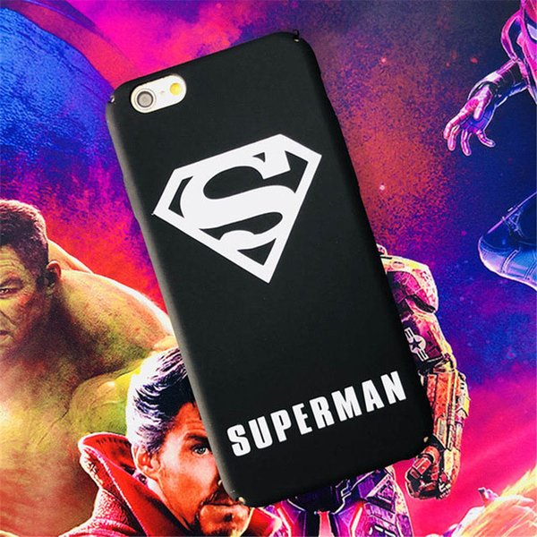 3pcs/lot High qulity Ultra Thin Marvel Iron Man Case For iPhone 6 7 8 Plus DC Hero Batman Case Hard Matte PC Back Cover For iPhone 5 SE X