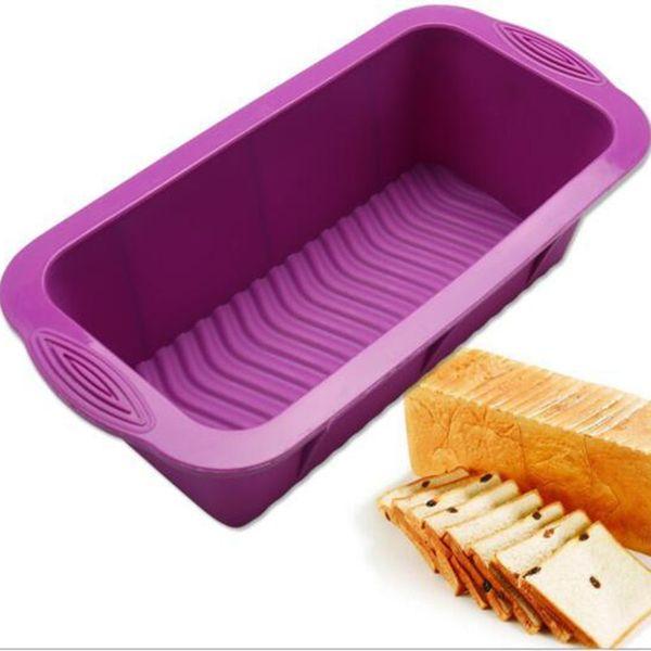 3D High Quality DIY Rectangular Shape Silicone Cake Mold Silicone Cake Mold Baking Tools Bakeware Maker 25*12*7.5cm