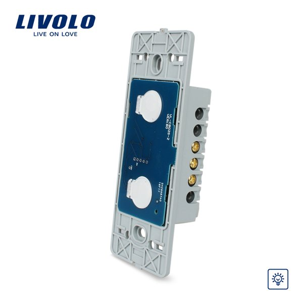Livolo US Standard Wall Light Touch Dimmer Switch, 2gang 1way ,Without Glass Panel, VL-C502D