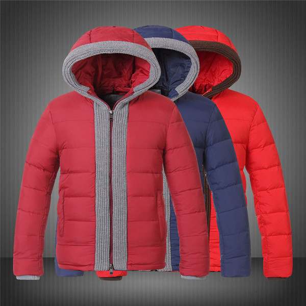 Down Jackets men designer jackets Brand Fashion Luxury European Jackets Dull Solid Color Red Blue Coats Outdoor Sport Cold Winter DHL Free