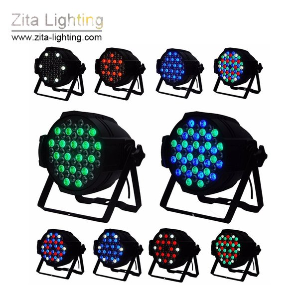4Pcs/Lot Zita Lighting LED Par Lights Par64 Stage Lighting RGBW Par Can Building Wall Washer 54X3W DMX512 DJ Disco Wedding Party Effect