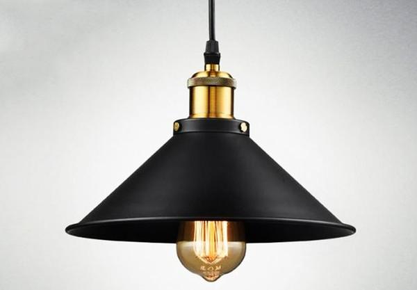 Retro industrial Mini Edison black dress Pendant Light Nordic restaurant bar iron Pendant Lamp Home lighing Hanglamp NO21