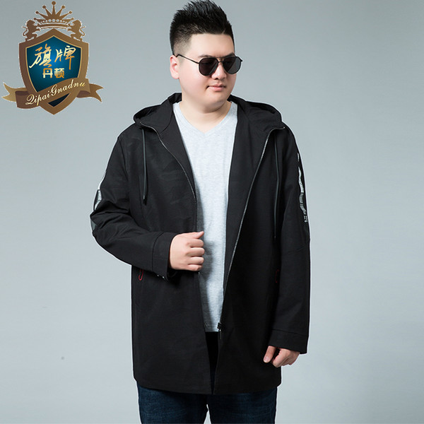 2018 Fashion Brand Winter Men 's Cashmere Warm Jacket Hoodie Trench 6XL Plus Size Man Jackets Winter Warm Hood Mens Coats