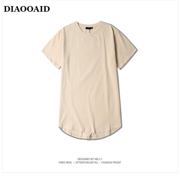High Street New hiphop Summer Men T-Shirt Hip Hop Solid Clothes Short Sleeve O-Neck Casual cotton oversized tee Swag Streetwear