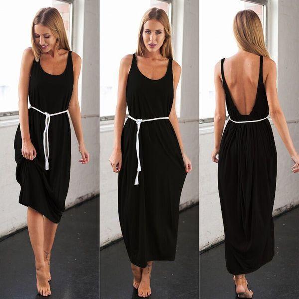 black backness maxi dress