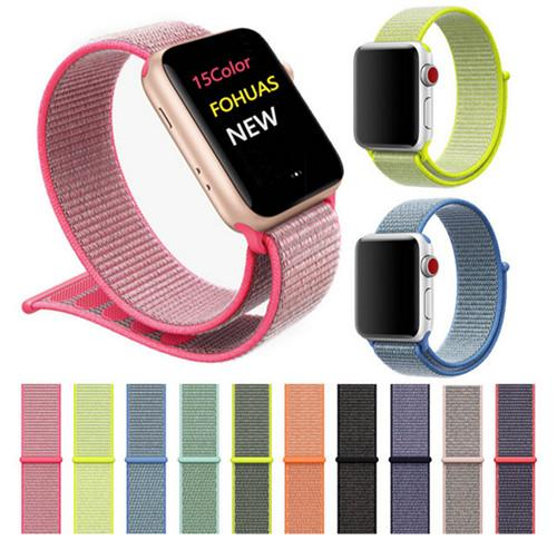 Original Nylon Sport Schlaufe für Apple Watch Band 42mm 38mm Serie 1 2 3 Woven Nylon Bands Ersatzgurte