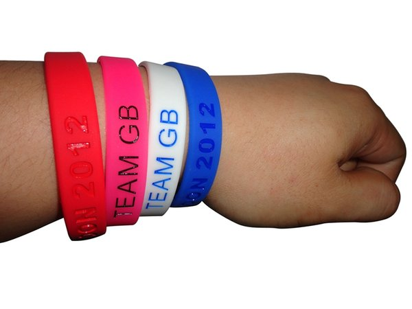 Wholesale custom Debossed logo 500pcs/lot fashion silicone wristband bracelet for promotional gift or event, FR
