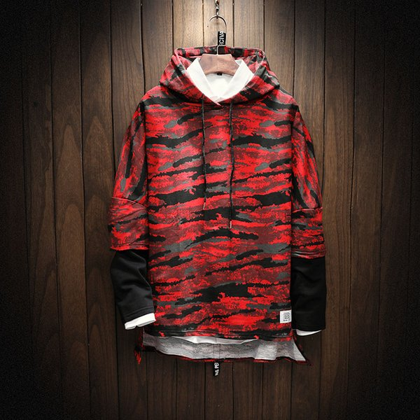 2018 Brand New Men Hoodies Sweatshirt Solid Color Print Trend Cotton Pullover Coat Mens Clothes Hip-Hop Male Factory Outlet men outerwear