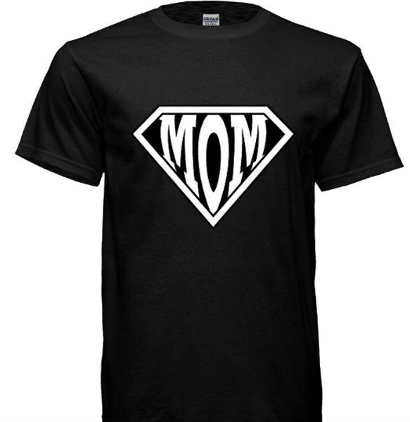 Glow In The Darkness Mom Superhero Graphic Novelty Unisex Tshirt Men Print Cotton O Neck Shirts Black Cotton T Shirt