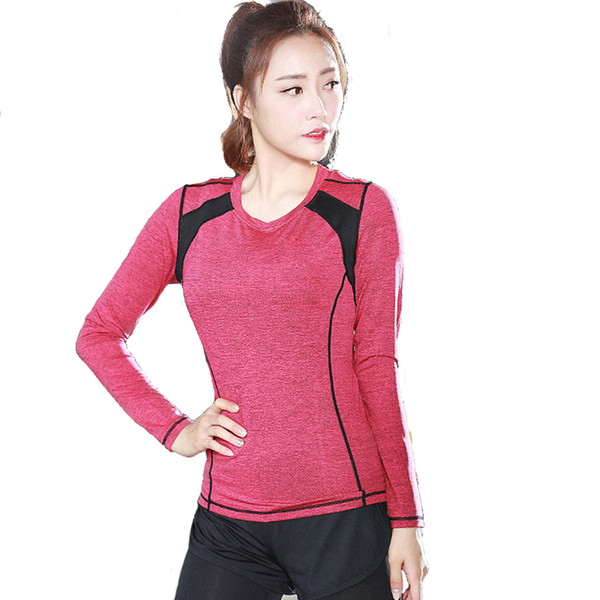 Professional Yoga Shirt Long Sleeve 9 Types Autumn Fitted Quick Drying Running Gym Sport T shirt Women Fitness Tee Top