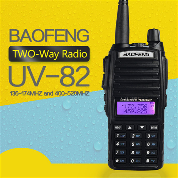 top popular BAOFENG UV-82 VHF UHF Dual Band 136-174 400-520MHz 2-PTT 5W Two Way Radio Free Shipping by DHL 2021
