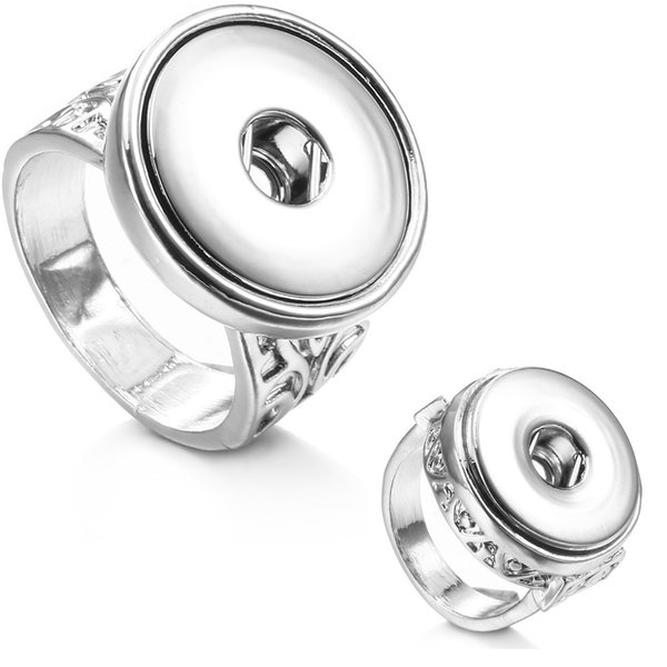 NOOSA Big 18mm Ginger Snap Ring Interchangeable Jewelry Custom Snap Button Ring for Free Style WHOLESALE