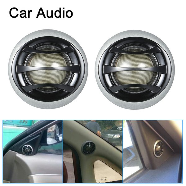 """2""""150W Micro Dome Car Audio Tweeters Speakers with Built-in crossover a pair"""