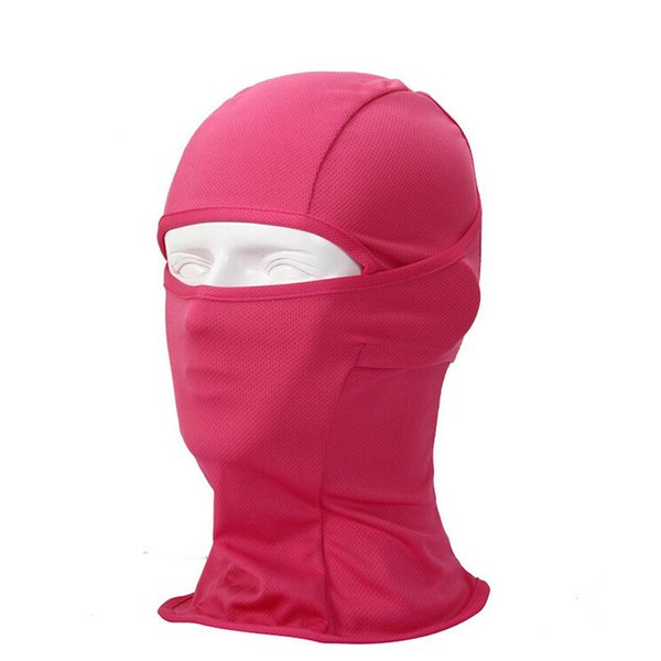 Multifunctional Bandana/ Cap for Bike / Hood Face Mask High Quality Resistant to Wind and UV for Sport, Outdoor, travel-Rose red