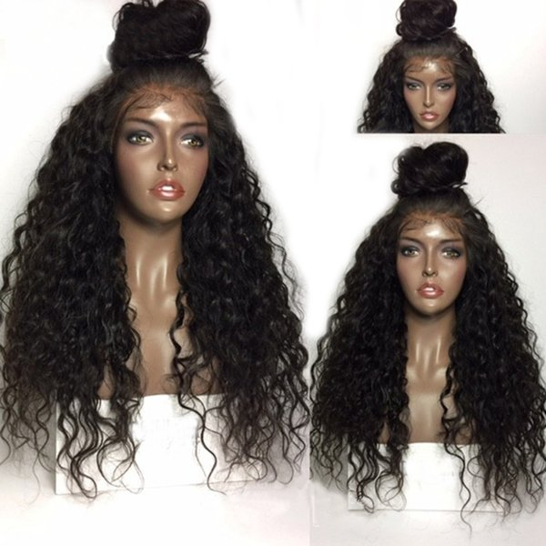 Fashion Kinky Curl Wigs Lace Front For Black Women Afro Style High Quality Heat Resistant Fiber Synthetic Curly Wigs Free Shipping