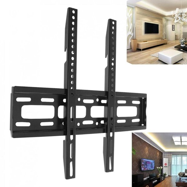 50KG TV Wall Mount Bracket Fixed Flat Panel TV Frame with Level Instrument for 26-65 Inch LCD LED Monitor Flat Panel Bracket