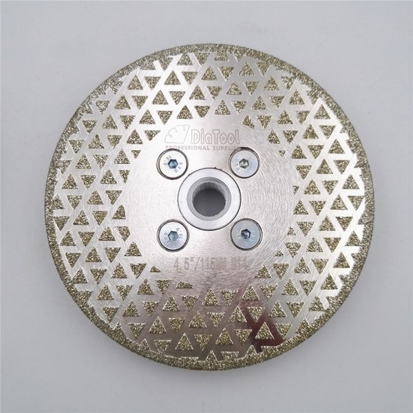 best selling DIATOOL 1pc Electroplated diamond cutting wheel grinding disc Both side coated diamond Saw blade for granite and marble