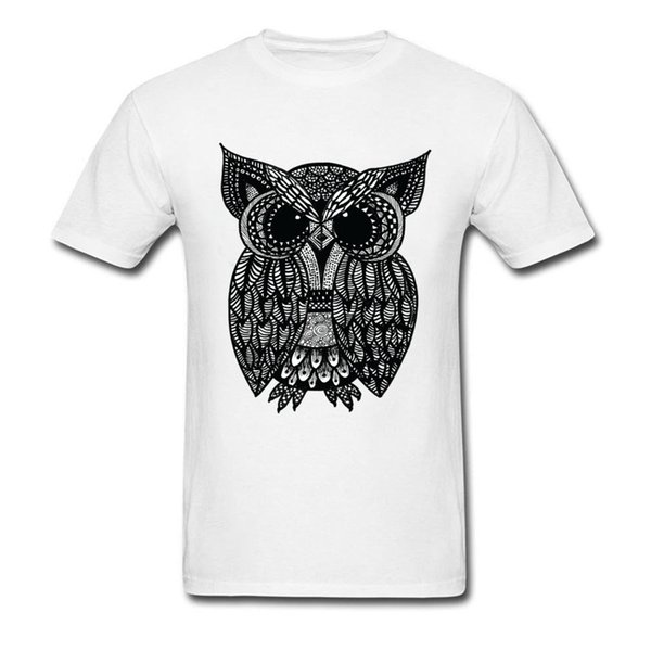Printed On Tangled Owl Boy T Shirts 2018 Summer/Fall Short Sleeve Crewneck Pure Cotton Tops & Tees Best Gift T Shirt For Friend