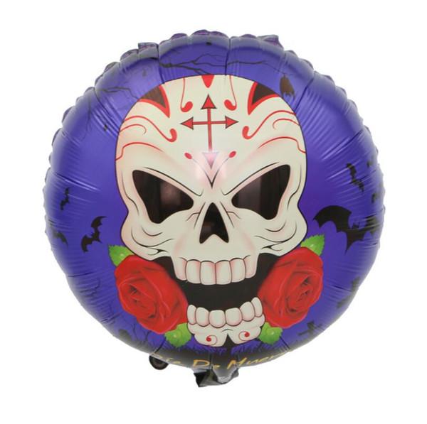 New Halloween Pumpkin Ghost Balloons Alta qualità Decorazioni di Halloween Skull Foil Balloons Giocattoli gonfiabili per feste