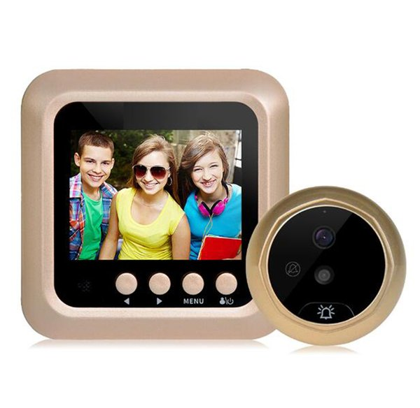 2.4 Inç Monitör Wifi Akıllı Peephole Video Kapı Zili kapı görüntüleyici HD720P Kamera NightVision PIR Hareket Algılama IOS Andriod Için APP Kontrolü