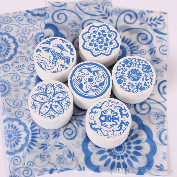 1 х Китай марочные ветер синий и белый фарфор дневник деревянный штамп для детей DIY ручной работы Scrapbook Фотоальбом, Ремесла подарки