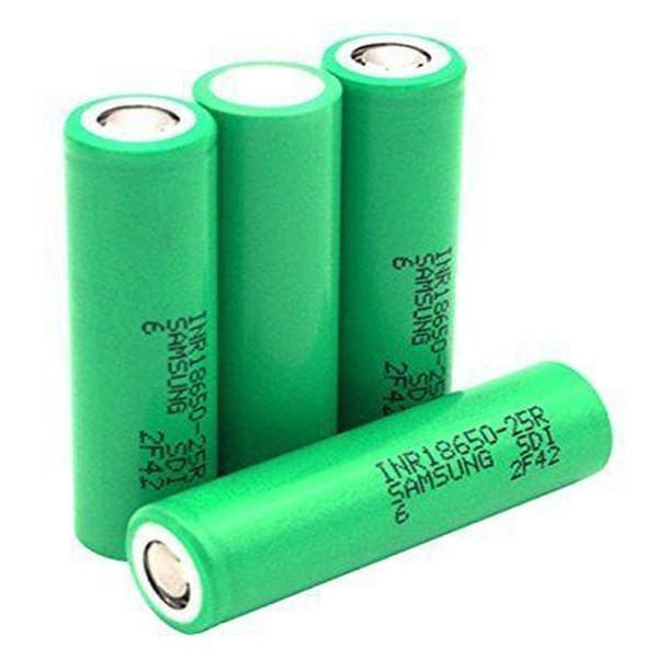 FEDEX INR18650-25R Baterías de alta calidad Batería recargable de iones de litio de alta potencia de grado 20A para Samsung Electonic Cigarette