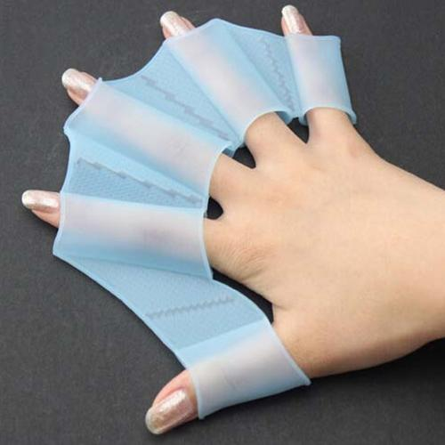 newUnito Nuoto Finger Webbed Gloves Frog Hand Gear Pinne Palm Flippers Paddle Silicone