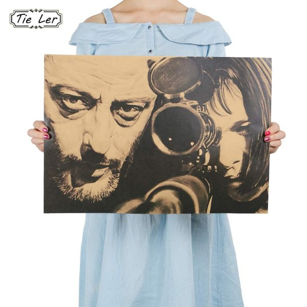TIE LER Vintage Poster Paper Wall Painting Decor 51x35.5cm Vintage Poster Wall Stickers